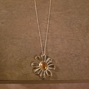 .925 Silver Daisy Necklace